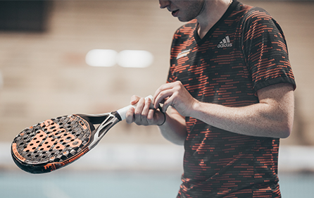 Padel player on a court